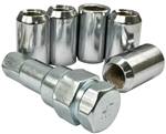 Lug Nut Kit, 14 x 1.5mm Thread, Tuner Style, 60 Degree Tapered Seat, Set of 5, 9547