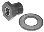 Chromoly Gland Nut & Washer, Economy, 36mm Head, 031-2236