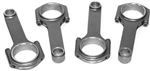 "SCAT 4340 5.500"" H-Beam Connecting Rods, Type 1 Journals, 5/16"" ARP 2000 Bolts, Balanced, Set of 4, 102512-2"