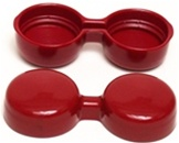 Weber 44-48IDF, 45 DCOE, & Dellorto DRLA Urethane Velocity Stack Covers, Pair RED. These covers prevent wankers from tossing gravel or pennies into your carb throats when you are relaxing; they also keep out dust and rain when it's parked.
