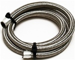 Stainless Steel Braided Aircraft Hose #4, PER FOOT. This aircraft quality hose is uses with ends you assemble, for a hose assembly that will not come off, and that is very resistent to abrasions and vibration.