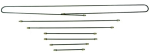 Steel Brake Line Kit, STAINLESS STEEL, 67-68 Type 1, 7 Piece Kit, 113-698-721S