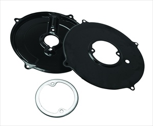 Alternator/Generator Backing Plate Tin, Black, 3 Pieces, 113-119-031KIT