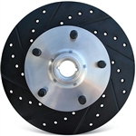 Disc Brake Rotor, Front, 1967-74 Ghia, 1966-71 1/2 Type 3, and Type 1s with Front Disc Brake Kits, Pre-Studded with 5 x 130mm Porsche Bolt Pattern