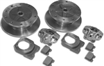 AC Industries Zero Offset Rear Disc Brake Kit, 1958-67 Type 1, 5x205mm, With Emergency Brake, 111-698-601DNS