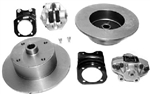 AC Industries Zero Offset Rear Disc Brake Kit, 4 Lug, 1968-72 Type 1 IRS, With Emergency Brake, 113-698-601E