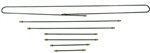 Steel Brake Line Kit, 1968-78 Standard Beetle and Ghia, 7 Piece Kit, 113-698-723 or 131-698-700