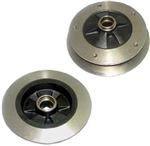 Zero Offset Wide 5 Disc Brake Rotor, Fit AC Industries 1969-77 Ball Joint Type 1 (Beetle, Ghia, and THING), EACH, 131-407-615A