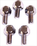 14mm Chrome Lug Bolts (Wheel Bolts), Tapered Seat, Set of 4