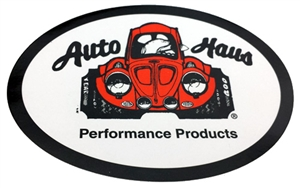 "Auto Haus Sticker, 4 x 3"" Oval, Each, 15-4046-0"