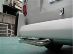"Vintage Speed 42mm (1 5/8"") Stainless Steel Super Flow Muffler (Up to 190hp), Upright Engine, Standard Tailpipe, 1960-67 Bus, 155-206-050SF"