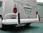 Vintage Speed Stainless Steel Super Flow Muffler (Up to 150hp), Upright Engine, Standard Tailpipe, 1960-67 Bus, 155-206-052SF