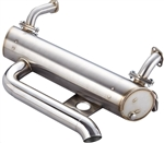 Vintage Speed Stainless Steel Sport Muffler (Up to 125hp) for Type 1 Engine in EXTREMELY LOWERED 1956-77 Beetle and Super Beetle, 155-233-05700