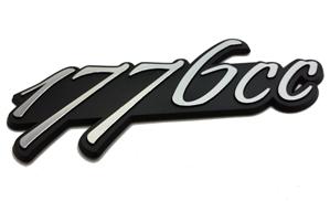 1776cc emblem satin black with brushed silver numbers. Black Bedroom Furniture Sets. Home Design Ideas