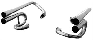 4 Pipe Stinger Exhaust, Chrome, 2030