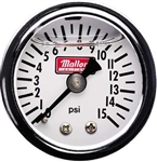 "Mallory 1 1/2"" Diameter Fuel Pressure Gauge, 1/8 NPT Threaded, 29724"