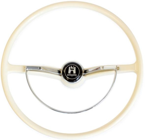 stock steering wheel complete ivory 1962 71 beetle. Black Bedroom Furniture Sets. Home Design Ideas