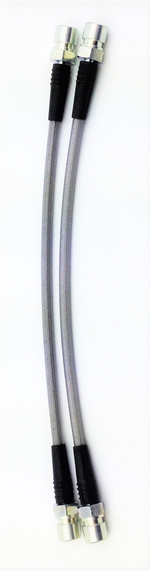 Stainless Steel Brake Hoses 1971-79 Super Beetle AND 1971-79 Type 2, 340mm Long, FRONT ONLY, PAIR, 340FF