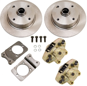 Bolt On Disc Brake Kit (Retaining Stock Spindles), 1969-77 Ball Joint Type 1 (Beetle, Ghia, and THING), Spindles NOT INCLUDED, 498492