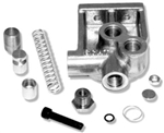 Oil Filter Adapter, Fittings On Top, Bypass Version, 50073