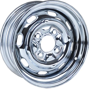 "4 Lug OEM Style Steel Wheel, Mangels Style, 15 x 4.5"", 4 1/4"" Back Spacing, 4 x 130mm Bolt Pattern, EACH"