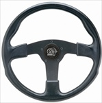 "GT Rally 13 1/2"" Steering Wheel, 3 Black Spokes w/Black Grip"