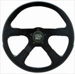 "GT Rally 14"" Steering Wheel, 4 Black Spokes w/Black Grip"