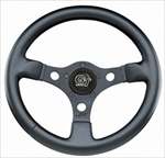 "GT Formula 13"" Steering Wheel, 3 Black Spokes w/Black Grip"