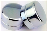 Chrome Front Wheel Bearing Dust Caps w/o Hole, Pair