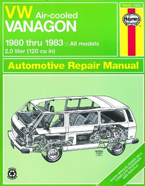 vw vanagon air cooled vw 1980 1983 haynes manuals aircooled net vw parts. Black Bedroom Furniture Sets. Home Design Ideas