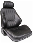 Scat Procar Rally Seat, Black Leather, Left, EACH, 80-1000-51L-H