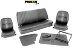 Scat Procar Pro-90 Low Back VW Interior Kit, for CONVERTIBLE Beetle/SuperBeetle, VELOUR