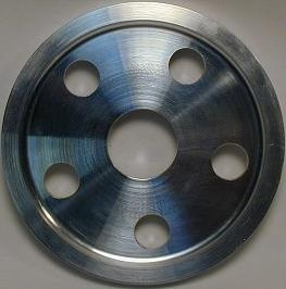 SCAT 12 Volt 6061-T6 Billet Aluminum 5 Hole Pulley Cover, 80355