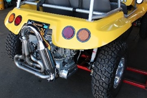 "A-1 Performance Upright Manx and Buggy Merged Racing HEADER (Muffler NOT included), J-pipes INCLUDED (No Heater Boxes), 1 1/2, 1 5/8, 1 3/4"" Tubing"