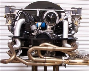 A-1 Performance Sidewinder HT Merged Racing HEADER (Muffler Nor J-pipes included), for Flanged J-Pipes (Heater Box Compatible), Mid Size Tubing