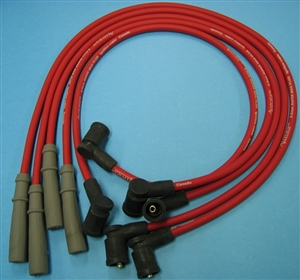Super Mag 8.5mm Silicone Spark Plug Wire Set, 1983-91 Vanagon Waterboxer, 1.9L and 2.1L Gasoline Engines, Red or Black