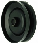 BIllet Alternator and Generator Pulley, 12V Black