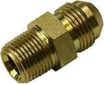 "-8 (AN8) Adapter Fitting,  Brass, 3/8"" NPT, Straight, B-8MS-6MP"