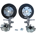 "Front Disc Brake Kit, Ball Joint Beetle and Ghia, 2 1/2"" Lowered, 5 x 130mm Studded"