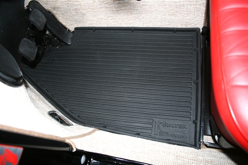 Rubber Floor Mats 1958 72 Vw Beetle Set Of 2 Front Only