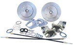 ROTOHUB Rear Disc Brake Kit, 1968 Swing Axle Type 1, 4x130mm, With Emergency Brake, CB4621