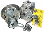 JAMAR Front Disc Brake Kit, 14mm 5 Lug, Dual Piston Caliper, Link Pin VW, Heavy Duty, DB300COMB