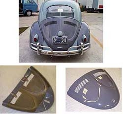 "Smooth ""W"" Decklid, Fiberglass, 1963 and Older Beetle, ELW-1"