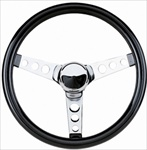 "12 1/2"" Foam Steering Wheel, Standard Dish"