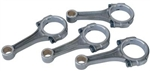"SCAT 5.500"" I-Beam Connecting Rods, Type 1 Journals, 3/8"" ARP 2000 Bolts, Balanced, Set of 4, ICR5500-3"