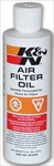 K&N Liquid Air Cleaner Oil, 8oz Squeeze Bottle