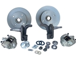 "Front Disc Brake Kit, Link Pin Beetle and Ghia, 2"" Lowered, 4 x 130mm"