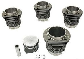 90.5mm x 78-84mm Hypereutectic Machine In Piston & Cylinder Set, AA Brand, Type 1, VW9050T1S