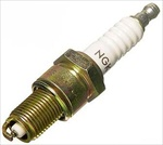 "NGK BP6ES Spark Plug, 14 x 3/4"" Reach Threads, 13/16"" Socket"