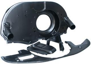 Oem Vw Fan Shroud Kit Doghouse Upright Engines Black